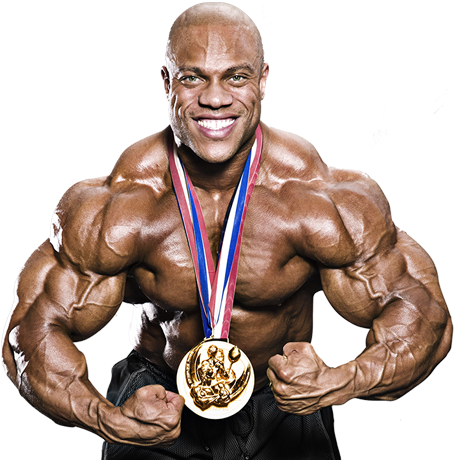 "Phil Heath, 5′ 9"", weight 275 pounds"