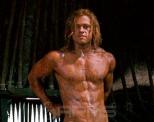 troy naked brad pitt